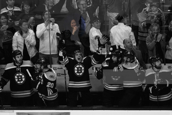 in Game Seven of the Eastern Conference Finals during the 2011 NHL Stanley Cup Playoffs at TD Garden on May 27, 2011 in Boston, Massachusetts.